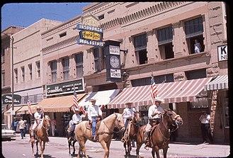 Lander, Wyoming - Lander's Fourth of July Parade in 1962.