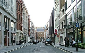 Cork Street - View north along Cork Street