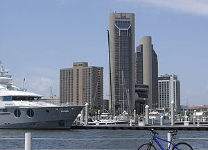 Omni hotels and American Bank towers in Corpus...