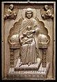 Costantinopoli, avorio stroganoff (placca con la madre di dio in trono col bambino), avorio, 950-1025.jpg