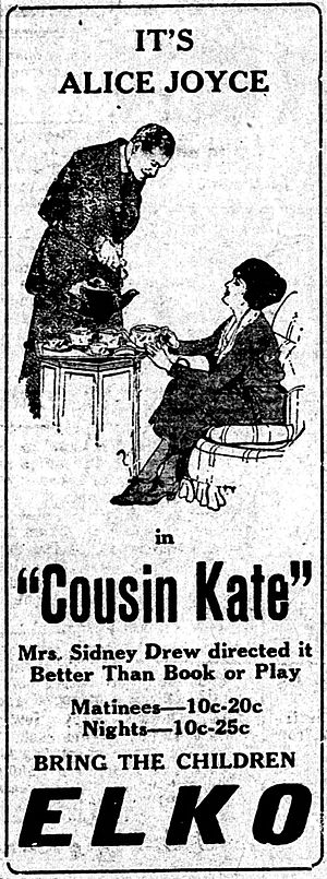 Cousin Kate (1921 film) - Newspaper advertisement
