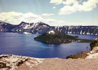 Wizard Island - Crater Lake and Wizard Island in 1997