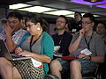 Crazy Contentious Copyright Challenges Constraining Community Creativity session at Wikimania 2014 07.jpg
