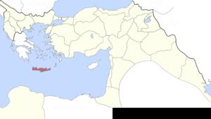Ottoman Crete - Image: Crete Vilayet, Ottoman Empire (1895)