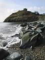 Criccieth Castle from the breakwater - geograph.org.uk - 1730821.jpg