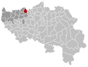 Crisnée - Image: Crisnée Liège Belgium Map
