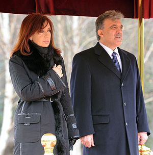 English: Argentina's President Cristina Fernan...