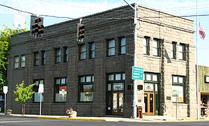 National Register of Historic Places listings in Crook County, Oregon - Image: Crook County Bank Prineville Oregon