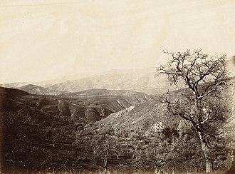 Tehachapi Pass - The Tehachapi Mountains  and Tehachapi Pass in 1869.