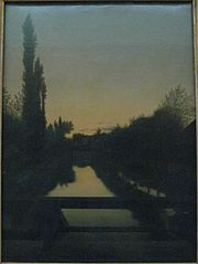 Paysage au crépuscule
