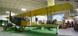 "Glenn H. Curtiss Museum - Curtiss JN-4 ""Jenny"" biplane in the museum"