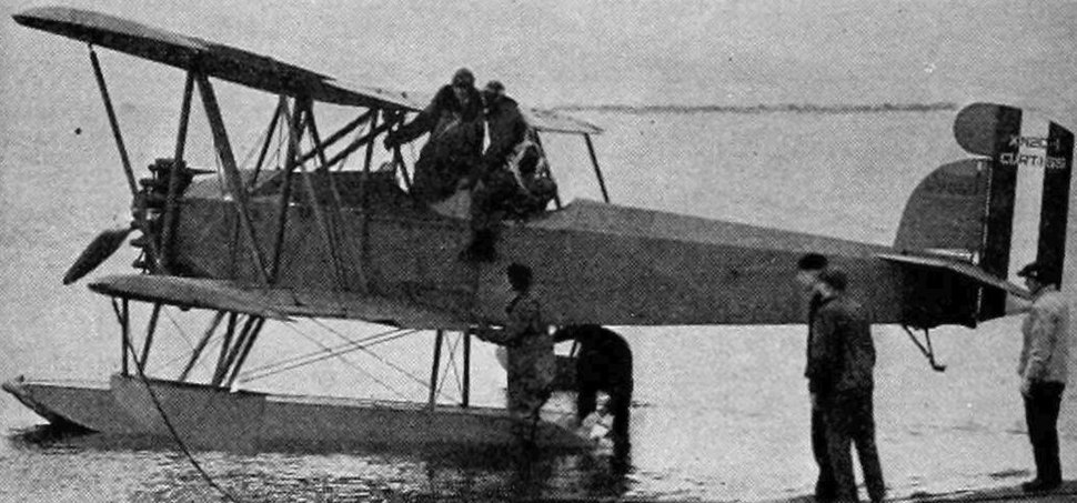 Curtiss XN2C-1 floatplane Aero Digest April 1928