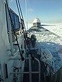 Cutter Katmai Bay escorts motor vessel Algo Steel 140207-G-ZZ999-001.jpg