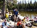 Cycle Oregon Participants at Wallowa Lake, Wallowa Whitman National Forest (26800789635).jpg