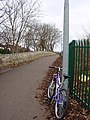 Cycle lane just above Passage Lane - geograph.org.uk - 118432.jpg