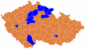 Czech parliament elections 1998 - districts winners map.png