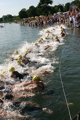 Swimming - Competitive open water swimming race
