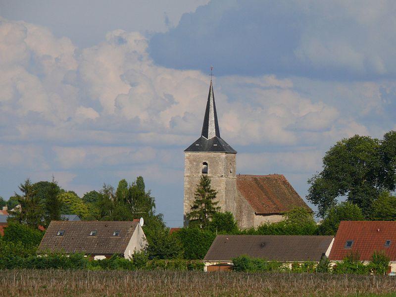 Saint-Denis' church of Dadonville (Loiret, Centre-Val de Loire, France).