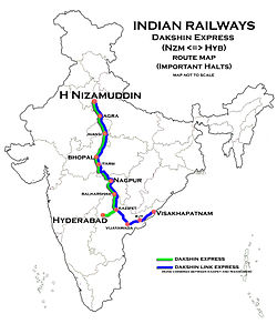 Dakshin Express Route map.jpg