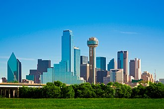 View of Downtown Dallas Dallas skyline daytime 2.jpg