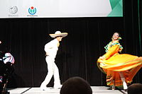Dancing at the Wikimania 2015 Opening Ceremony IMG 7642.JPG
