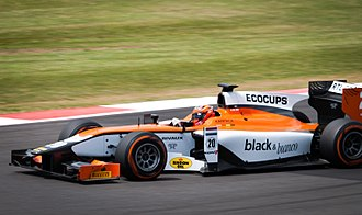 MP Motorsport - Daniël de Jong, driving for MP Motorsport during GP2 Series race at Silverstone in 2014