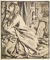 Dante Gabriel Rossetti - Design for Moxon's Tennyson - Mariana in the South.jpg