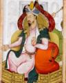 Darbar of Humayun, detail, Humayun. Akbarnama, 1602-4, British Library.png