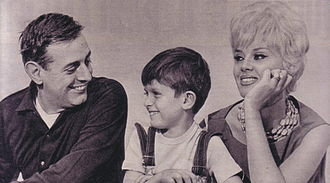 Dario Fo - Fo with his wife Franca Rame and their son Jacopo.
