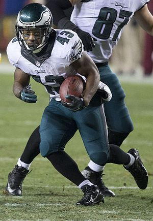 "Running back - Darren Sproles, a ""scat back"""