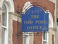 Dartmouth, sign on the old post office - geograph.org.uk - 1468574.jpg