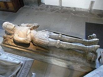 Sir David Mathew - Full-length view of effigy of Sir David Mathew, Llandaff Cathedral