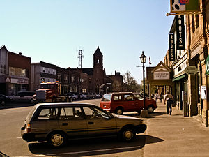 English: Charlottetown, P.E.I. Queen Street in...