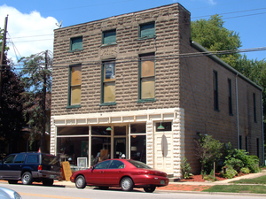 Dayton, Indiana - Dayton's historic district is listed on the National Register of Historic Places