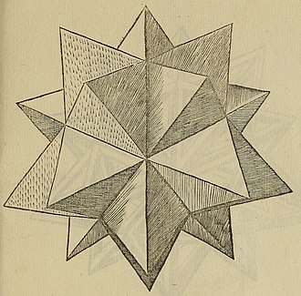Kepler–Poinsot polyhedron - Icosaedron Elevatum by Leonardo da Vinci, De divina proportione (1509)