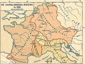 Timeline of historical geopolitical changes - Frankish kingdoms in 888