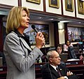 Debbie Mayfield offers a question during consideration of a measure on the House floor.jpg