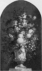 Schoorsteenstuk met bloemen in een vaas