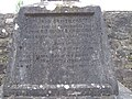 Dedication on the tombstone of Fouth Baronet of Templemore.JPG