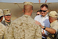 Defense.gov News Photo 101027-D-7203C-007 - Deputy Secretary of Defense William J. Lynn III and Brig. Gen. James Nicholson share a laugh with a Marine instructor during a tour of the Joint.jpg
