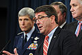Defense.gov News Photo 110224-D-XH843-009 - Under Secretary of Defense for Acquisition Technology Logistics Ashton B. Carter speaks with members of the press about the KC-X contract.jpg