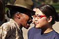 Defense.gov News Photo 120324-M-AV740-001 - Drill instructor Sgt. Marline Dominic left explains to Rachel Murray the importance of sounding off during a pool function at the Minnesota Twin.jpg