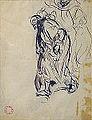 """Dehodencq A. - Ink - Etude pour """"l'arrestation d'un juif à Tanger"""" 12.5x17cm.jpg"""