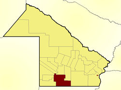 Location of Mayor Luis Jorge Fontana Department in Chaco Province