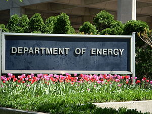 United States Department of Energy - Sign in front of the United States Department of Energy Forrestal Building on 1000 Independence Avenue in Washington D.C.