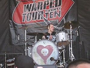 Derek Grant (drummer) - Grant performing with Alkaline Trio on the 2010 Warped Tour