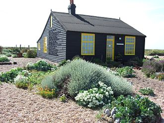 Derek Jarman - Derek Jarman's garden, Prospect Cottage, Dungeness, in May 2007