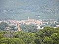 Des del mirador del parc Samà. Botarell i en primer terme campanar a Montbrió - panoramio.jpg