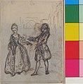 """Design for a Scene in de Laujon's """"L'Amoureux de quinze ans, ou la Double-Fête..."""" MET 44.54.26.jpg"""