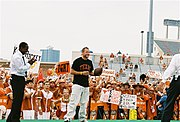 Armstrong (center) on the set of College GameDay during the 2006 UT football season.